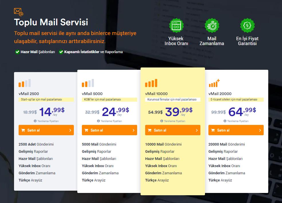 toplu mail servisi