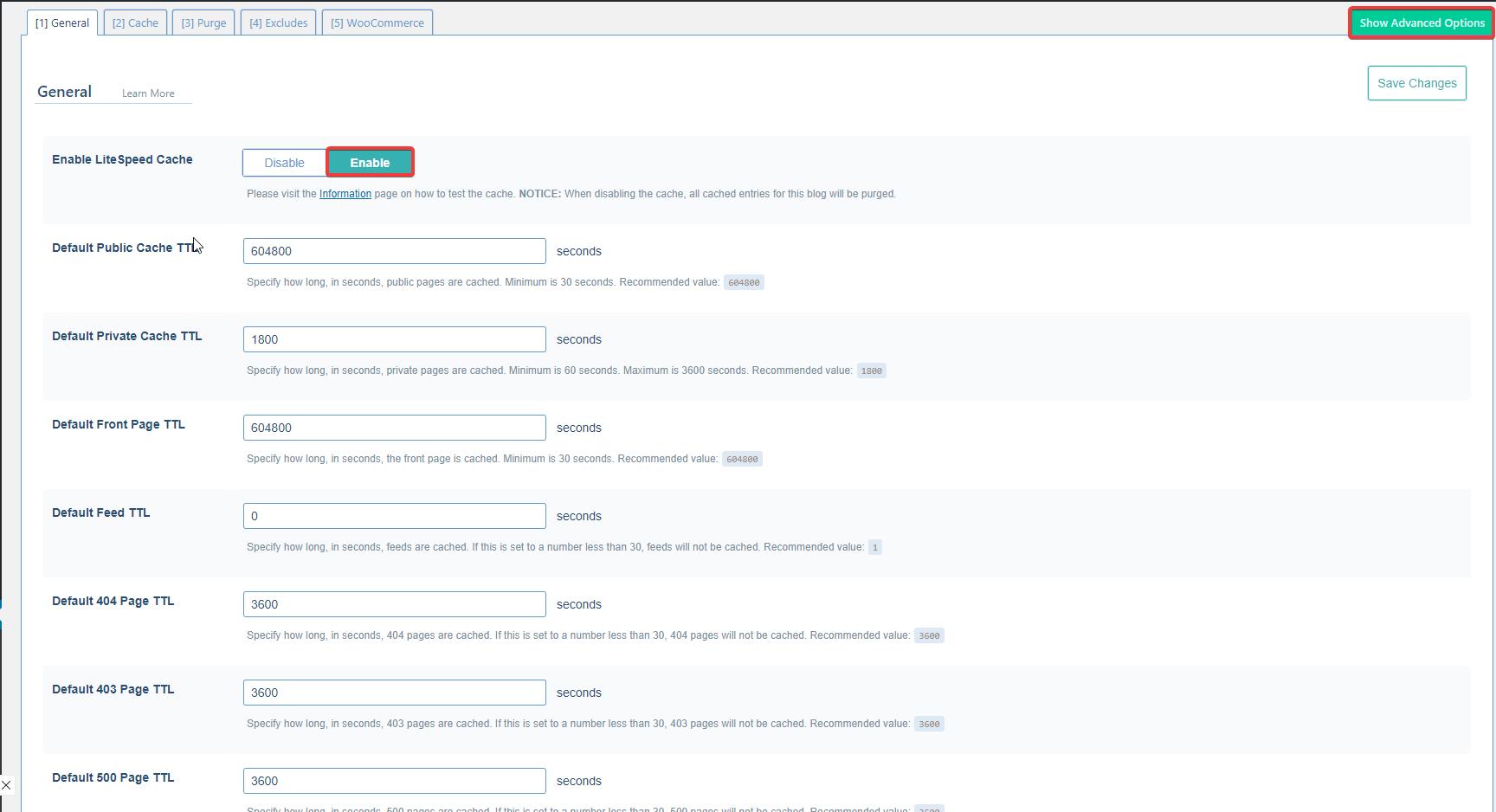 litespeed cache site hızlandırma