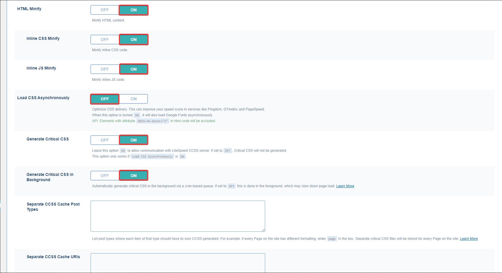 lscache html sıkıştırma